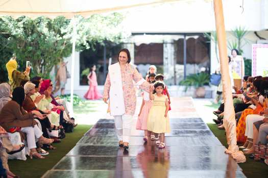 Nadia Mir with little models